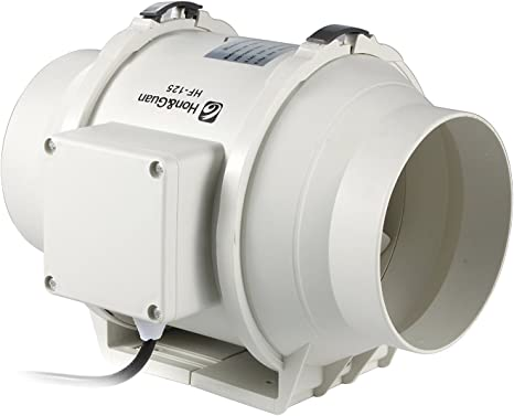 5in Inline Duct Fan Hydroponic Ventilation Blower kitchen Grow Extractor φ125 mm