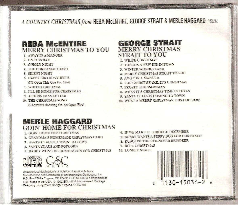 Reba McEntire, George Strait, Merle Haggard - A Country Christmas ...