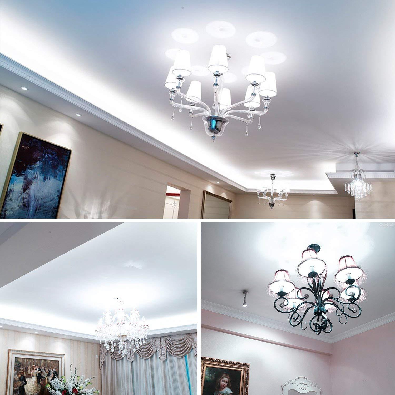 4 Packs LED Corn Light Bulbs E12 E26 E27 15W 6000K 100 watt Incandescent Bulbs Equivalent 1500Lm E12 LED Daylight Cool White Non dimmable Small Edison Screw Candle Bulb,Candelabra Light Bulbs