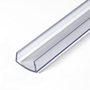 """Outwater Plastics 341-Cl Clear 3/4"""" Rigid Vinyl Clear Plastic U-Channel/C-Channel 36 Inch Lengths (Pack of 4)"""