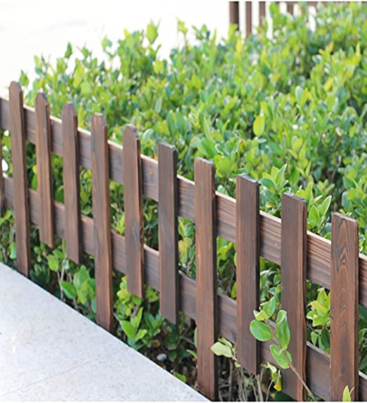 KKCFHUAJIA 1.2cm Espesado Carbonizado Cerca De Madera Jardín De Madera del Piquete Cercado Panel De Cerca (Color : Square Head, Tamaño : CX2): Amazon.es: Jardín