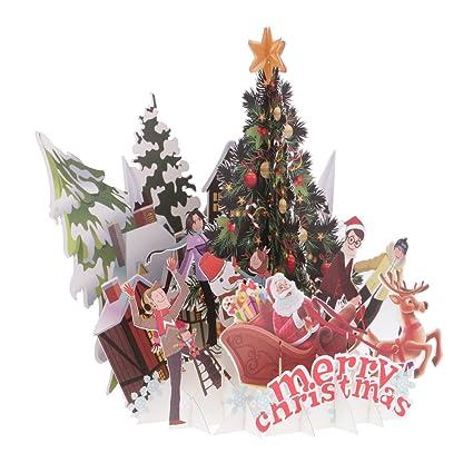 Tarjeta Navideña De Navidad Hecha A Mano De Tarjetas De ...