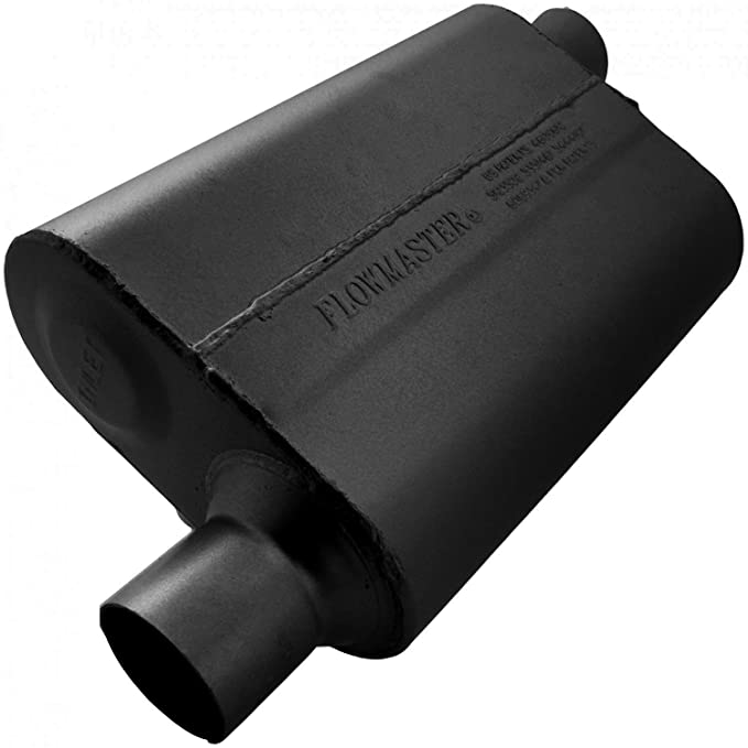 Flowmaster 942543 40 Delta Flow Muffler - 2.50 Offset IN / 2.50 Offset OUT - Aggressive Sound
