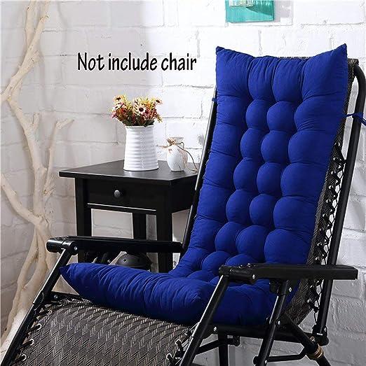 Cojín para silla de respaldo alto, para casa, oficina, viscoelástico, con botones, azul, 128*48*8cm