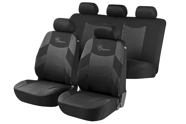 Elegance Car Seat Cover Grey and Black Micksgarage