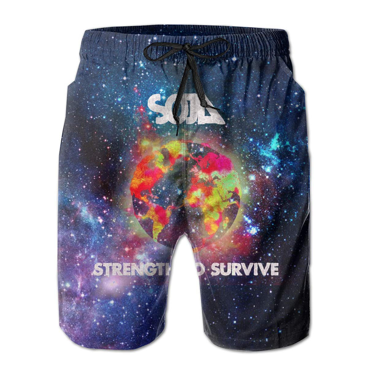 ReneaGrigsbyw Mans SOJA Strength to Survive Music Band Fashion Beach Board Shorts Quick-Drying Drawstring Surfers Shorts