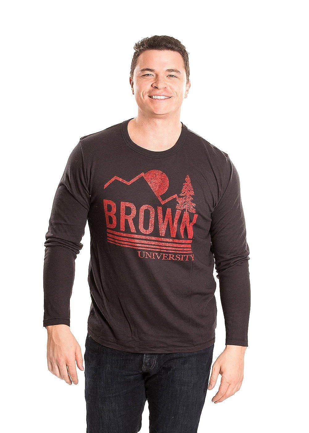 Small Alma Mater NCAA Mens Long Sleeve T-Shirt Brown Bears