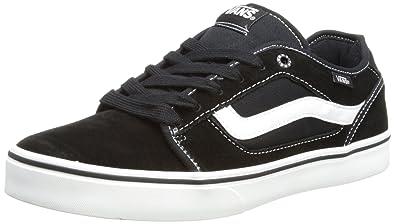 27fe7a90dd Vans Herren M TORER (SUEDE) BLACK/W Sneaker, Schwarz White, 40 EU ...