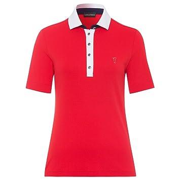 GOLFINO Bubble Jacquard Short Sleeve - Polo para Mujer Rojo ...