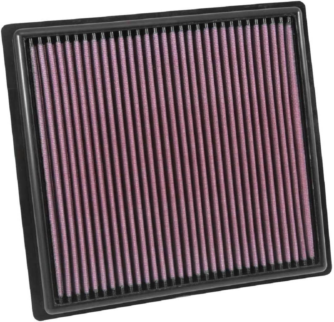 K&N Engine Air Filter: High Performance, Premium, Washable, Replacement Filter: 2015-2019 Chevy/GMC Colorado and Canyon, 33-5030
