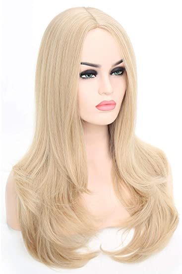 Blonde Long Flowing Womens Wig Costume Accessory NIP
