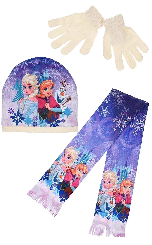 Disney Frozen Elsa Winterm/ütze Schal Handschuhe Set