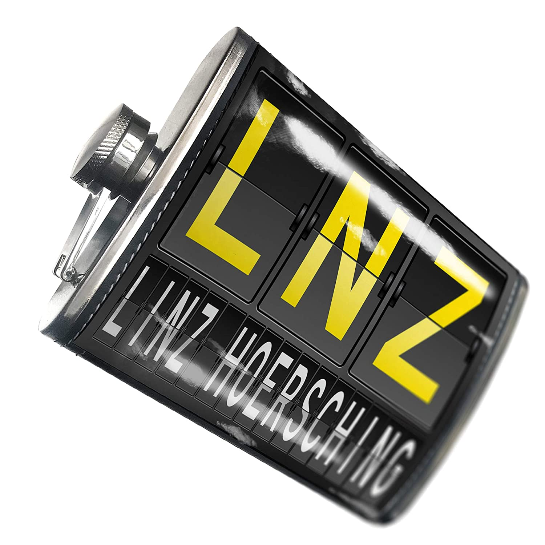 8オンスフラスコステッチLNZ Airportコードfor Linz – Hoerschingステンレススチール – Neonblond   B00QQVG6RS