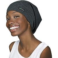 FocusCare Justerbar sovmössa, satinfodrad extra stor lockigt hår för kvinnor tillgängligt dag och natt
