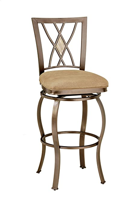 Hillsdale Furniture Brookside Diamond Back Swivel Counter Stool, Brown  Powder Coat Finish