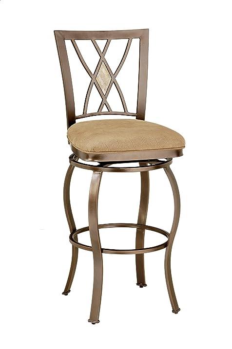 hillsdale furniture brookside diamond back swivel counter stool brown powder coat finish