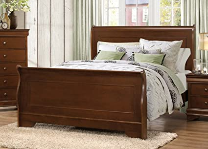 Amazon.com: Homelegance Abbeville California King Sleigh Bedframe ...