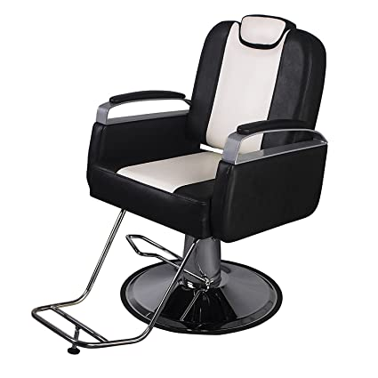 Amazing Sliverylake Barber Chair Classic Hydraulic Reclining Beauty Salon Chair Haircut Equipment Black White Gmtry Best Dining Table And Chair Ideas Images Gmtryco