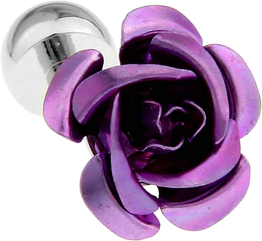 Aeici Gemelos Personalizados Gemelos Camisa Hombre Flor Rosa Gemelos Púrpura: Amazon.es: Joyería