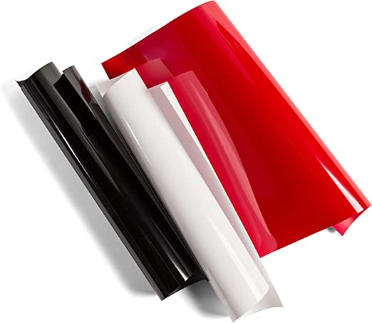 "Black Value Pack 12/"" x 144/"" DIY Supplies Cricut Everyday Iron On Vinyl Sheets"