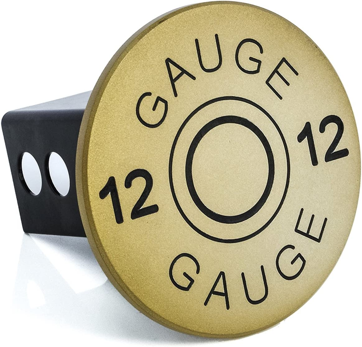 All Sales 1045GLD Ami 12 Gauge Hitch Cover Gold 2 inch
