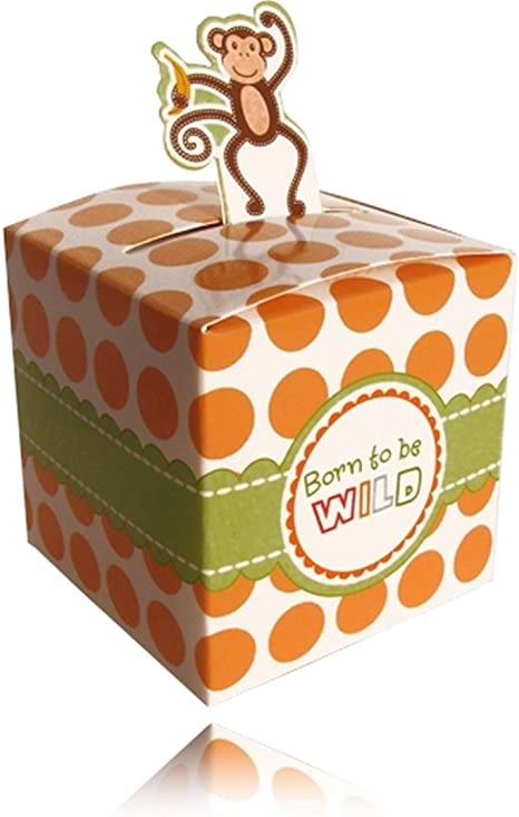 Einssein 12x Caja de Regalo Mona Salvaje Cajas Bonitas para cajitas Regalos Bombones Carton bolsitas Papel chuches Bodas Bautizo pequeñas pequeña recordatorios comunion Navidad Decorar Invitaciones: Amazon.es: Hogar