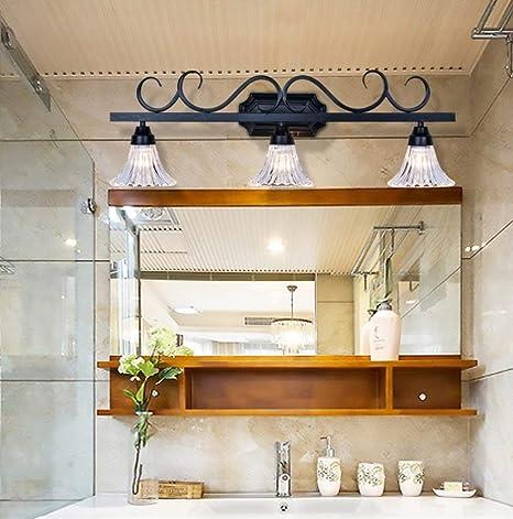 SED Lámparas de Espejo de Baño- Modernos mampara de Baño WC Americano Luces de Espejo Retro led Espejo de Cristal Lámpara de Pared de luz -Faros de Espejo Faros (Forma: 2),2: Amazon.es: