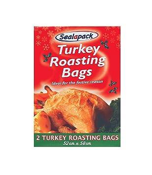 Amazon.com: 2 Bolsas para asar Turquía 52 cm x 58 cm ...