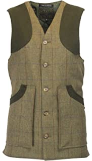 e47986fb516e4 Walker & Hawkes - Mens Derby Tweed Shooting Waistcoat Winston Country Gilet  - Forest Green