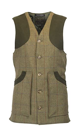 6a511c34520 Walker   Hawkes - Mens Derby Tweed Shooting Waistcoat Vest Winston Country  Gilet - Forest Green at Amazon Men s Clothing store