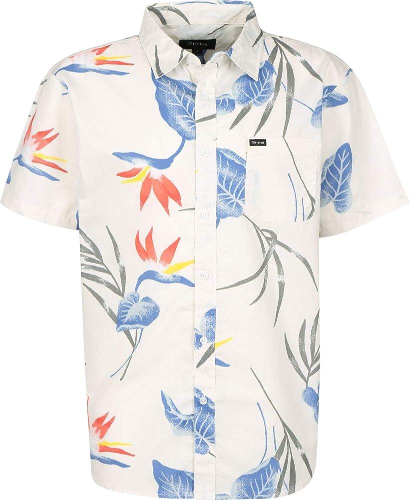 BRIXTON Charter Print S/S Wvn Camisa para Hombre: Amazon.es: Ropa y accesorios