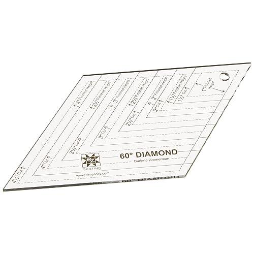 Simplicity EZ Quilting - Plantilla de acrílico en forma de diamante (ángulo de 60º)