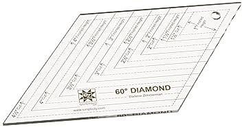 amazon com ez quilting 882670182a 60 degree diamond acrylic shapes