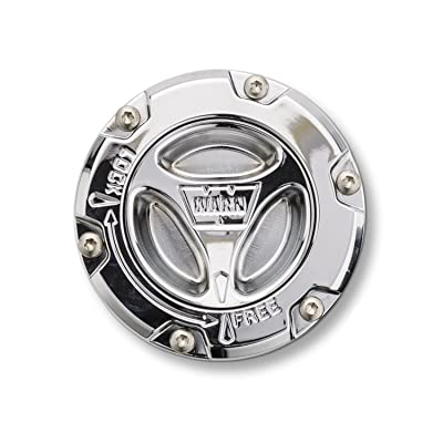 WARN 95070 Premium Manual Locking Hub with Zinc Aluminum Alloy Dial, Dual Seals and 35 Splines, Chrome, 1 Pair: Automotive
