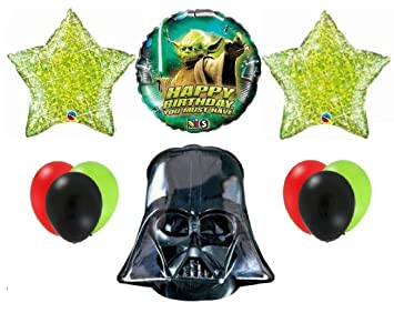 Amazon.com: Star Wars Darth Vader Yoda Fiesta de cumpleaños ...