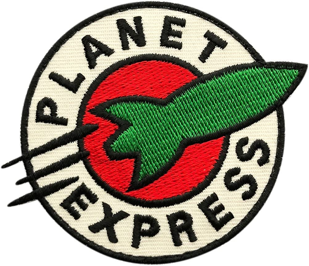 Futurama Planet Express Embroidered Hook Fastener Patch (2.5 inch)
