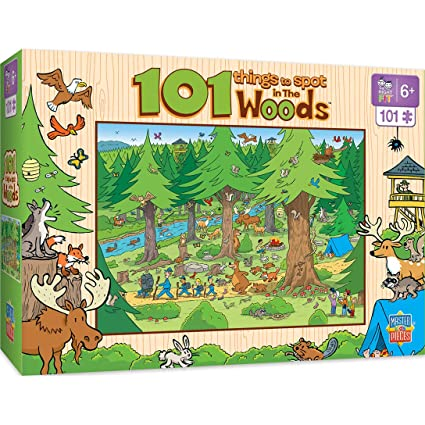 MasterPieces 101 Things to Spot in The Woods - 101 Piece Kids Puzzle
