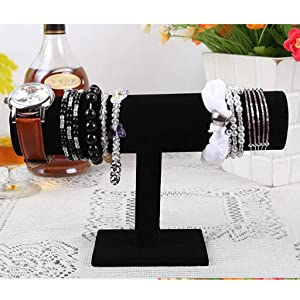 HuntGold T-Shape Jewelry Bracelet Necklace Watch Chain Display Stand Holder Rack