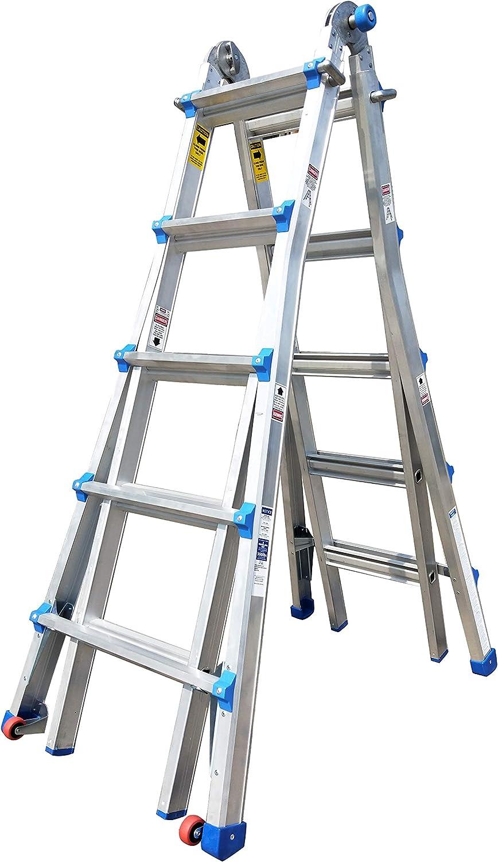 TOPRUNG Model-22 ft. Aluminum Extension Multi-Purpose Ladder