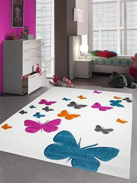 Carpetia Tapis Enfants Tapis Filles Papillon Rose Blanc Gr/ö/ße 160x230 cm