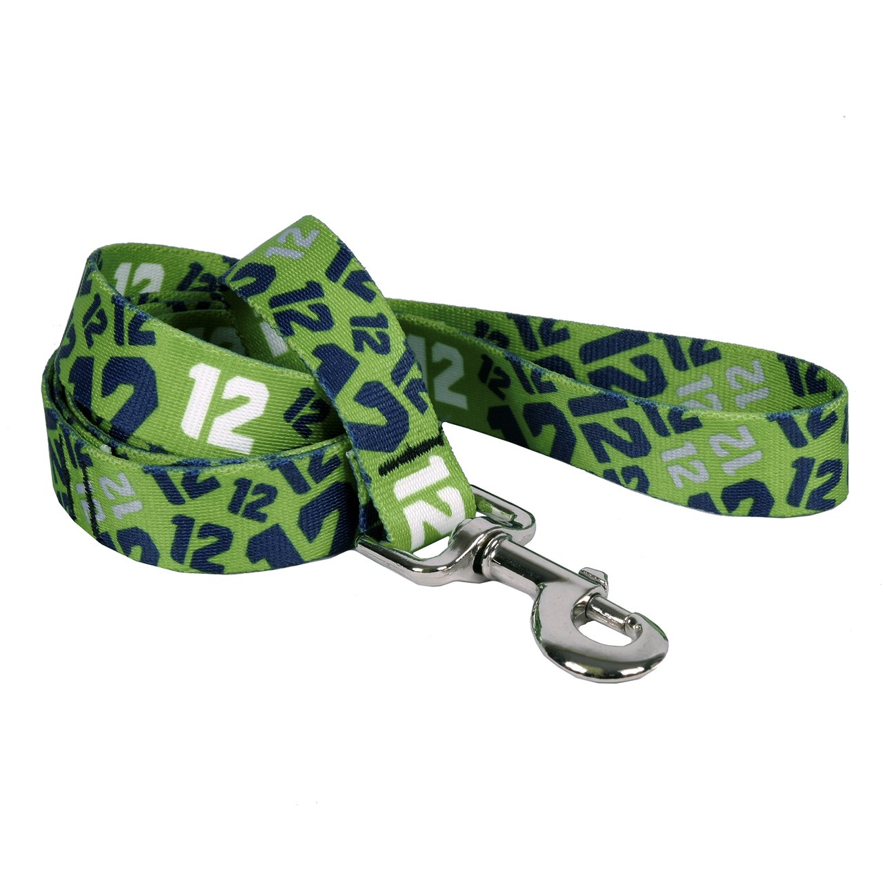 Yellow Dog Design, Multi 12 on Green Dog Leash, Extra Small 3/8'' x 60'' (5 ft.)