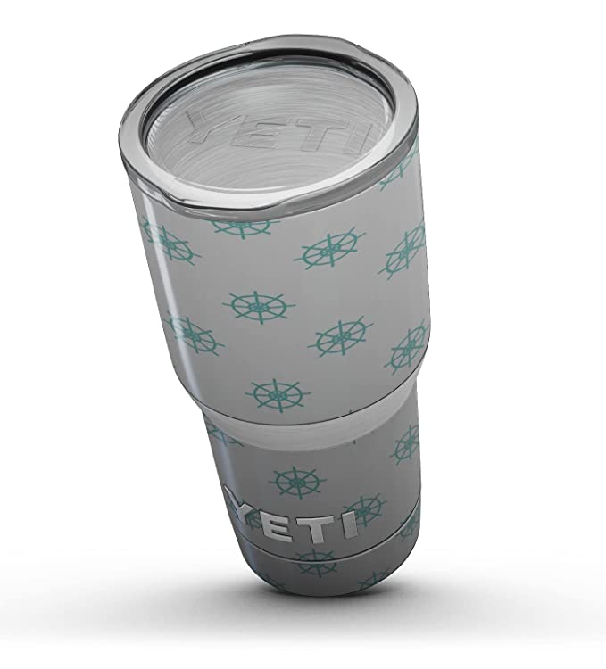 16c81e0c543 Amazon.com : iiRov Design Skinz Decal Skin-Kit Wrap for Yeti Drinkware -  Teal Micro Ship Wheels - Fits Yeti - Rambler 10 oz Lowball : Sports &  Outdoors
