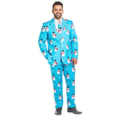 Men's Christmas Suit Snowman is an Island Blazer+Tie and Pants (Sold Separately): Clothing