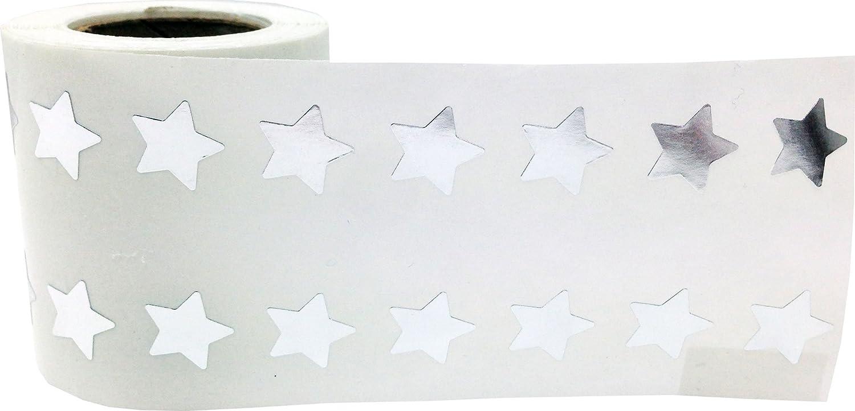 13 mm 1//2 Pouce de Large Bleu Brillant /Étoile Autocollants 1000 /Étiquettes sur un Rouleau