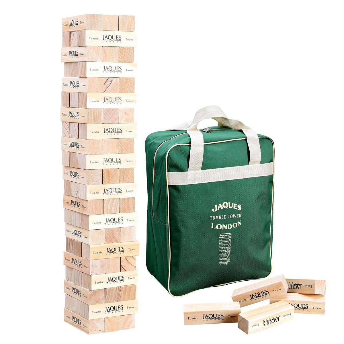 Jaques of London Giant Tumble Tower - Builds Over 3ft Tall During Outdoor Garden Play - Handmade Garden games by Trusted Since 1795 20520