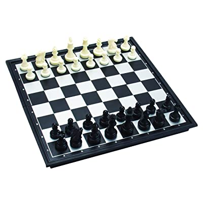 "Amerous 10"" x 10"" Travel Magnetic International Chess Set with Folding Chess Board: Toys & Games"