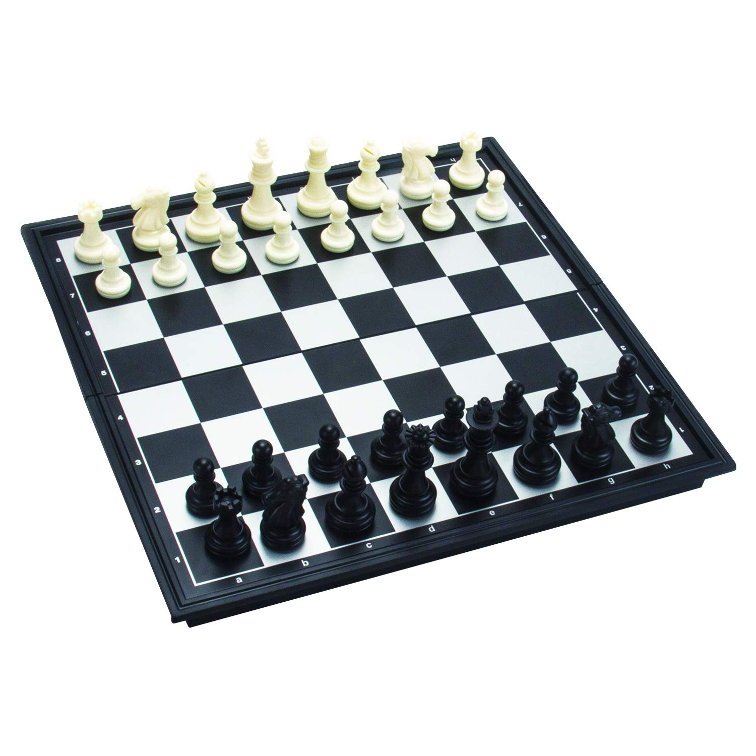 Amerous 10'' x 10'' Travel Magnetic International Chess Set with Folding Chess Board by AMEROUS