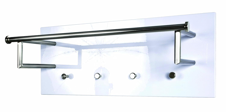 Haku-Möbel - Appendiabiti da parete, modello Steel 1, Bianco Haku Möbel 42301