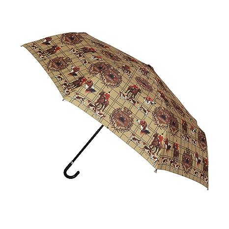 Signare Paraguas Mango Curvo en el diseño Caza