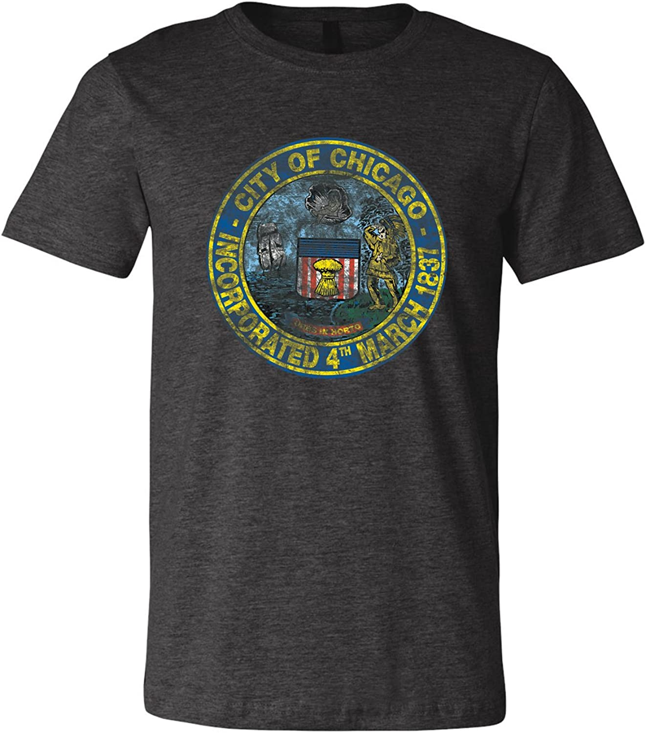 UGP Campus Apparel Chicago City Seal - Chicago Illinois Hometown Pride T Shirt